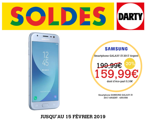 Bon plan, codes promo, réduction Guadeloupe, Martinique, Guyane, la Réunion : Samsung Galaxy J3 2017 | photo-samsung-galaxy-j3-2017