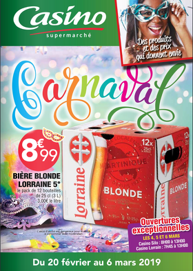 Bon plan, codes promo, réduction Guadeloupe, Martinique, Guyane, la Réunion : Catalogue Casino Carnaval | photo-catalogue-casino-carnaval