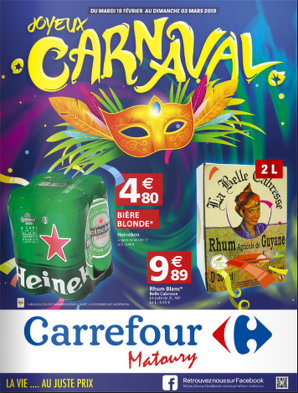 Bon plan, codes promo, réduction Guadeloupe, Martinique, Guyane, la Réunion : CATALOGUE CARNAVAL | photo-catalogue