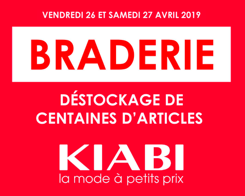 Bon plan, codes promo, réduction Guadeloupe, Martinique, Guyane, la Réunion : Braderie à KIABI ! | photo-braderie-a-kiabi