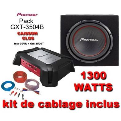 Bon plan, codes promo, réduction Guadeloupe, Martinique, Guyane, la Réunion : CAISSON +AMPLI+CABLAGE 1300 WATTS | photo-caisson-ampli-cablage-1300-watts