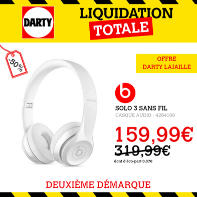 Bon plan, codes promo, réduction Guadeloupe, Martinique, Guyane, la Réunion : LIQUIDATION DARTY LA JAILLE - DEUXIEME DEMARQUE | photo-liquidation-darty-la-jaille-deuxieme-demarque