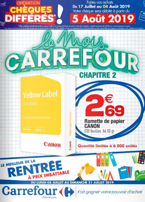 Bon plan, codes promo, réduction Guadeloupe, Martinique, Guyane, la Réunion : Le mois Carrefour | photo-le-mois-carrefour