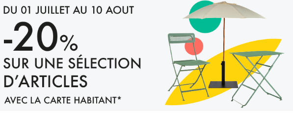 Bon plan, codes promo, réduction Guadeloupe, Martinique, Guyane, la Réunion : -20% sur une selection d'articles. | photo-20-sur-une-selection-d-articles