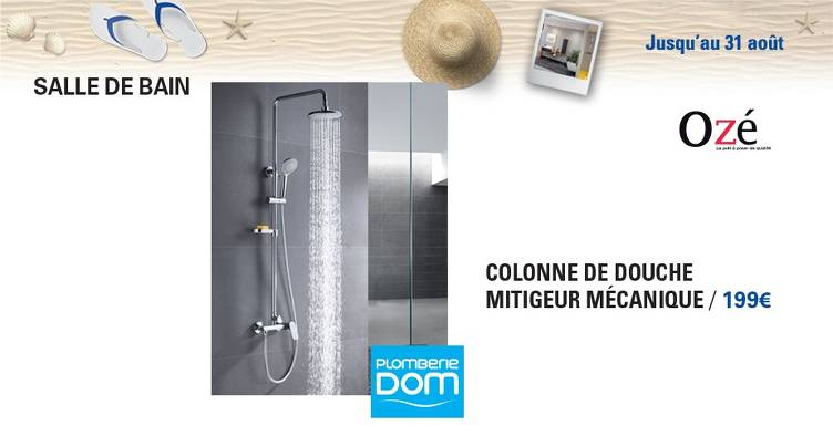 Bon plan, codes promo, réduction Guadeloupe, Martinique, Guyane, la Réunion : COLONNE DE DOUCHE | photo-gggfg