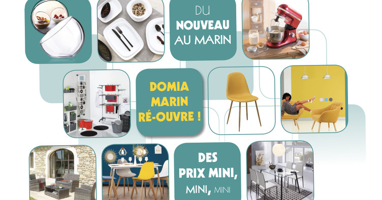 Bon plan, codes promo, réduction Guadeloupe, Martinique, Guyane, la Réunion : 🚨 NOUVEAU CATALOGUE DOMIA MARIN RÉ-OUVERTURE 🚨 | photo-catalogue-domia-marin-reouverture