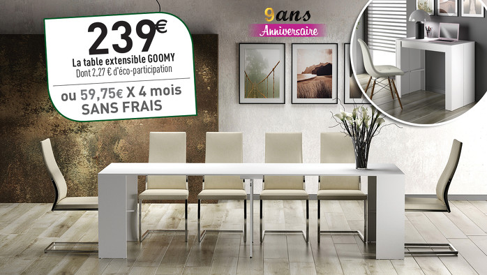 Bon plan, codes promo, réduction Guadeloupe, Martinique, Guyane, la Réunion : ❤ L'ASTUCIEUSE TABLE GOOMY ❤ | photo-l-astucieuse-table-goomy