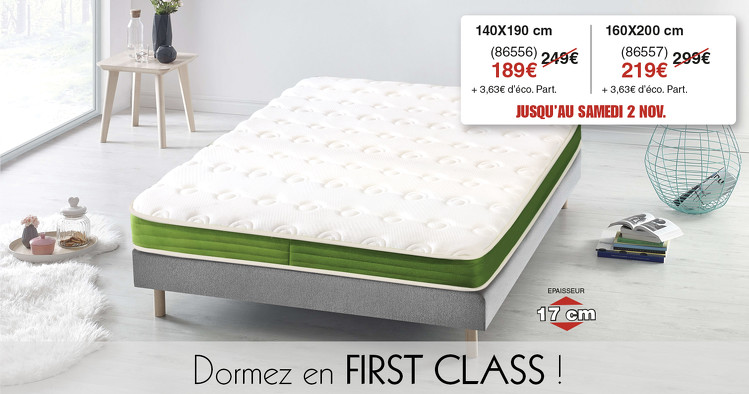 Bon plan, codes promo, réduction Guadeloupe, Martinique, Guyane, la Réunion : GROSSE PROMO SUR LE MATELAS FIRST CLASS | photo-grosse-promo-sur-le-matelas-first-class