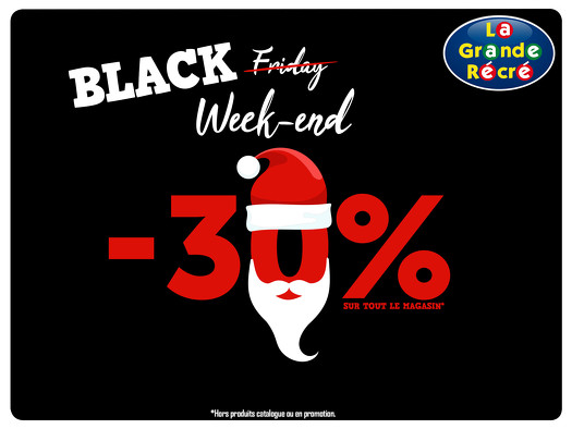 Bon plan, codes promo, réduction Guadeloupe, Martinique, Guyane, la Réunion : BLACK ̶F̶R̶I̶D̶A̶Y̶ ̶ WEEK-END DE LA GRANDE RÉCRÉ | photo-black-f-r-i-d-a-y-week-end-de-la-grande-recre