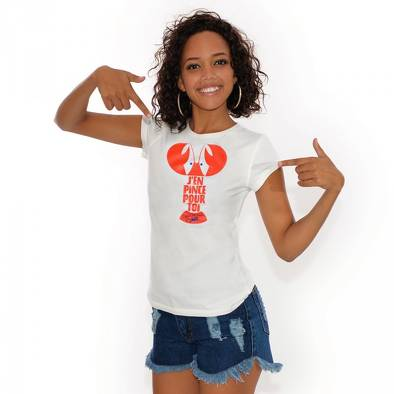 Bon plan, codes promo, réduction Guadeloupe, Martinique, Guyane, la Réunion : T-shirt Pince | photo-t-shirt-pince