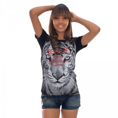 Bon plan, codes promo, réduction Guadeloupe, Martinique, Guyane, la Réunion : T-shirt Tigre | photo-t-shirt-tigre