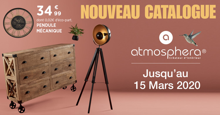 Bon plan, codes promo, réduction Guadeloupe, Martinique, Guyane, la Réunion : NOUVEAU CATALOGUE DÉCO DOMIA ATMOSPHÉRA | photo-nouveau-catalogue-deco-domia-atmosphera