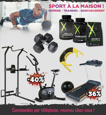 Bon plan, codes promo, réduction Guadeloupe, Martinique, Guyane, la Réunion : SPORT A LA MAISON ! | photo-sport-a-la-maison