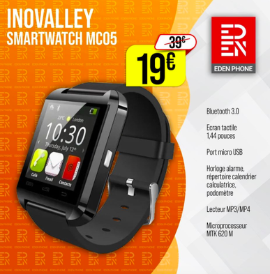 Bon plan, codes promo, réduction Guadeloupe, Martinique, Guyane, la Réunion : NOUVELLE MONTRE CONNECTÉE INOVALLEY | photo-nouvelle-montre-connectee-inovalley