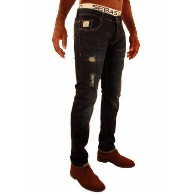 Bon plan, codes promo, réduction Guadeloupe, Martinique, Guyane, la Réunion : Jeans Dark style Usé Falk Sebastiano | photo-jeans-dark-style-use-falk-sebastiano