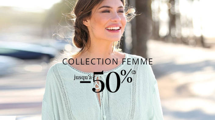 Bon plan, codes promo, réduction Guadeloupe, Martinique, Guyane, la Réunion : -50% sur la collection femme 3 suisses ! | photo-50-sur-la-collection-femme
